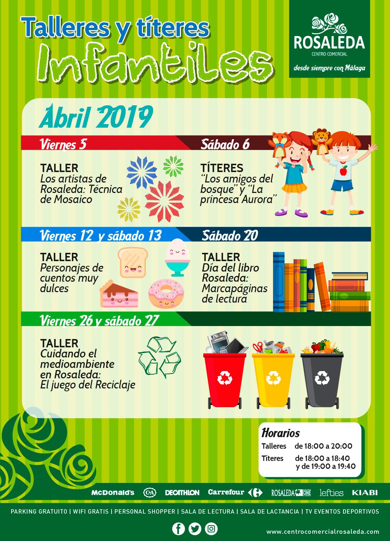 Talleres y títeres infantiles (abril 2019)