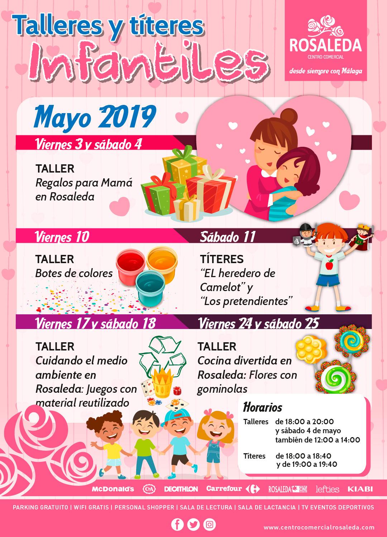 Talleres y títeres infantiles (mayo 2019)