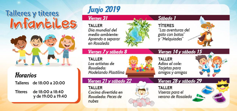 Talleres y títeres infantiles (junio)