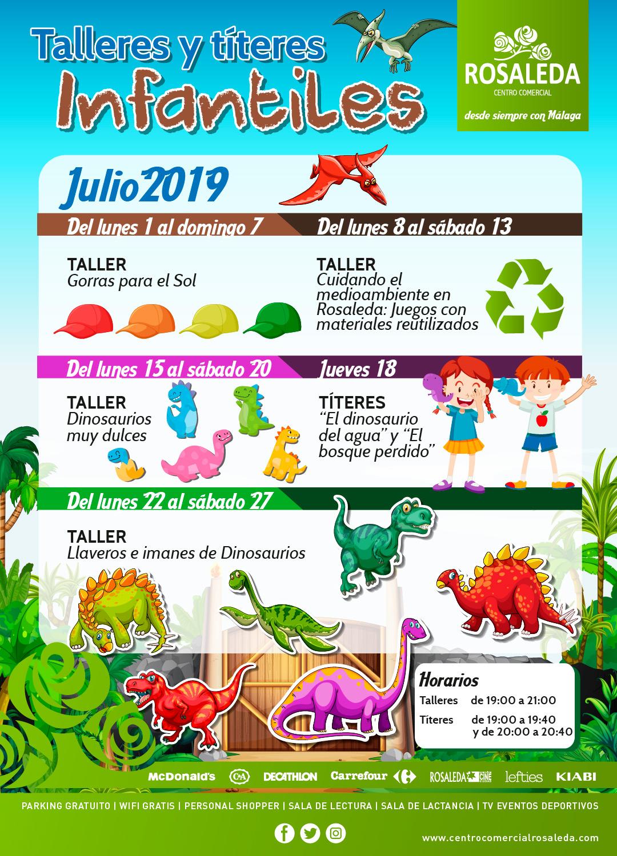 Talleres y títeres infantiles (julio 2019)
