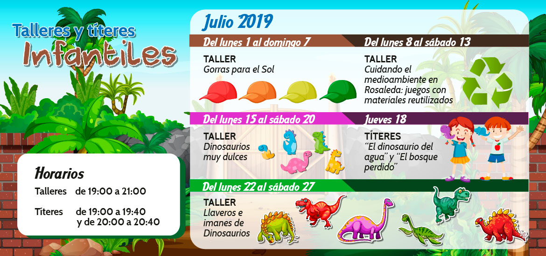 Talleres y títeres infantiles (julio)