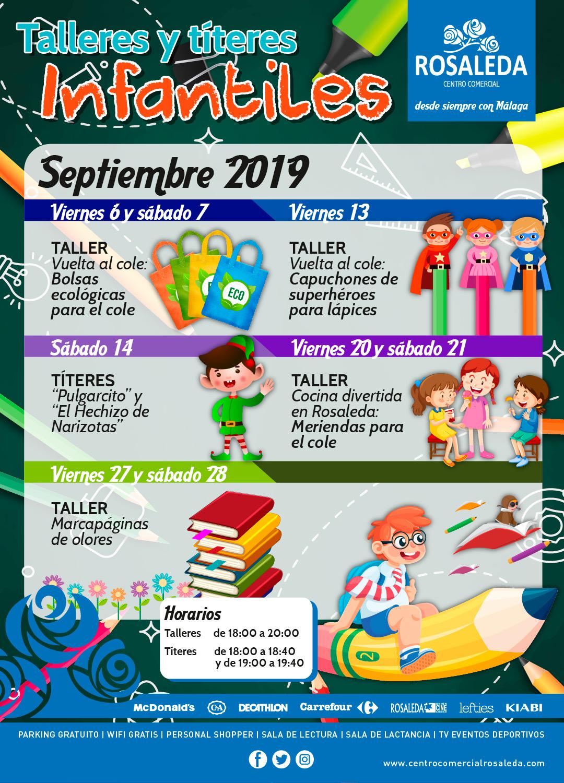 Talleres y títeres infantiles (septiembre 2019)