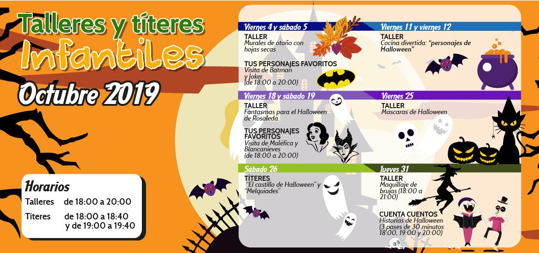 Talleres y títeres infantiles (octubre)