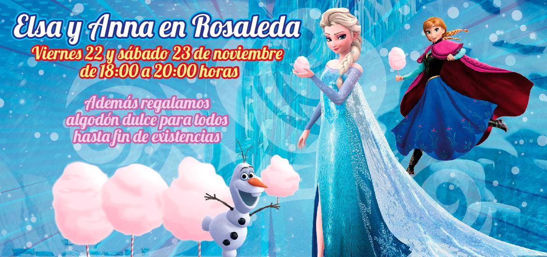 Elsa y Anna en Rosaleda
