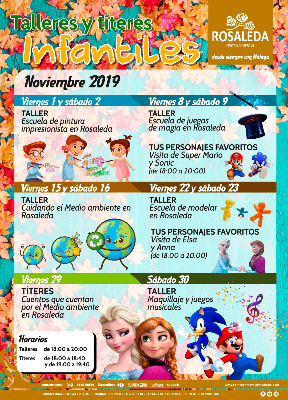 Talleres y títeres infantiles (noviembre 2019)