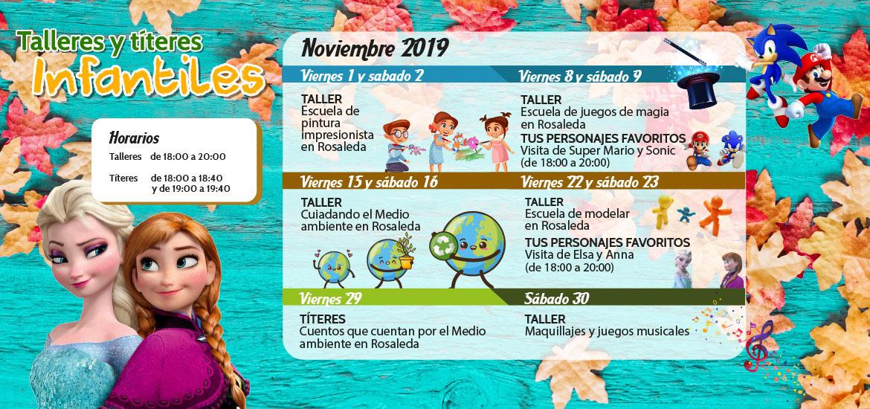Talleres y títeres infantiles (noviembre)