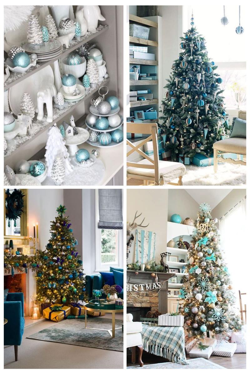 árboles de navidad azules