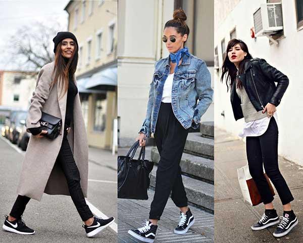 Llevar zapatillas con tus looks preferidos