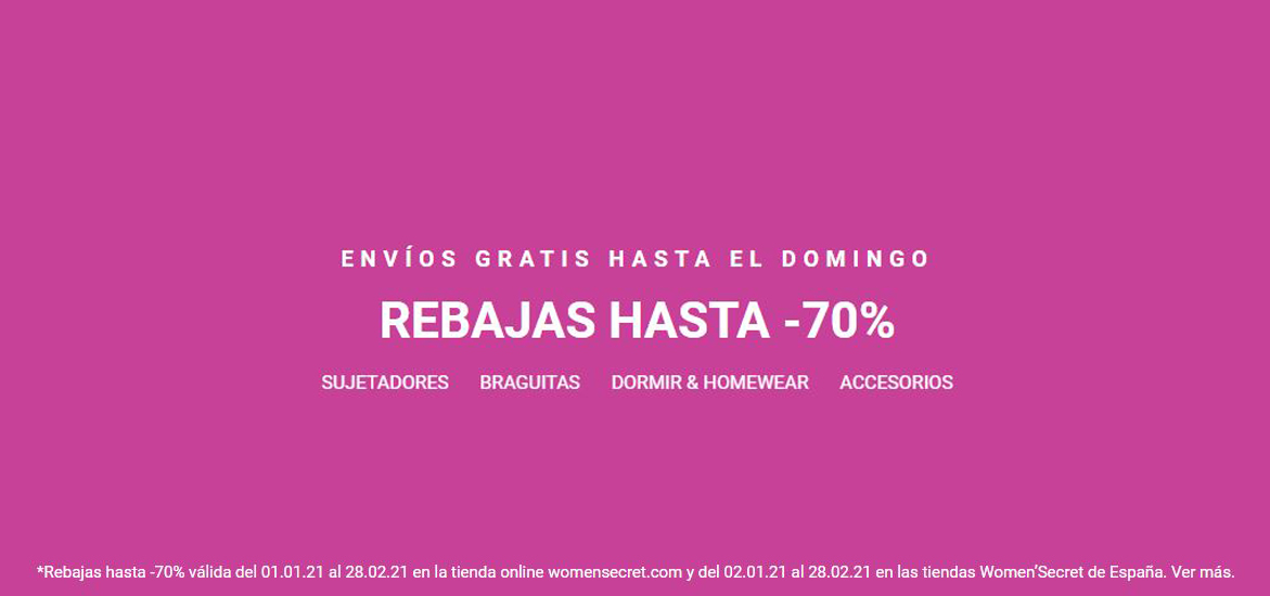 Rebajas en Women'secret