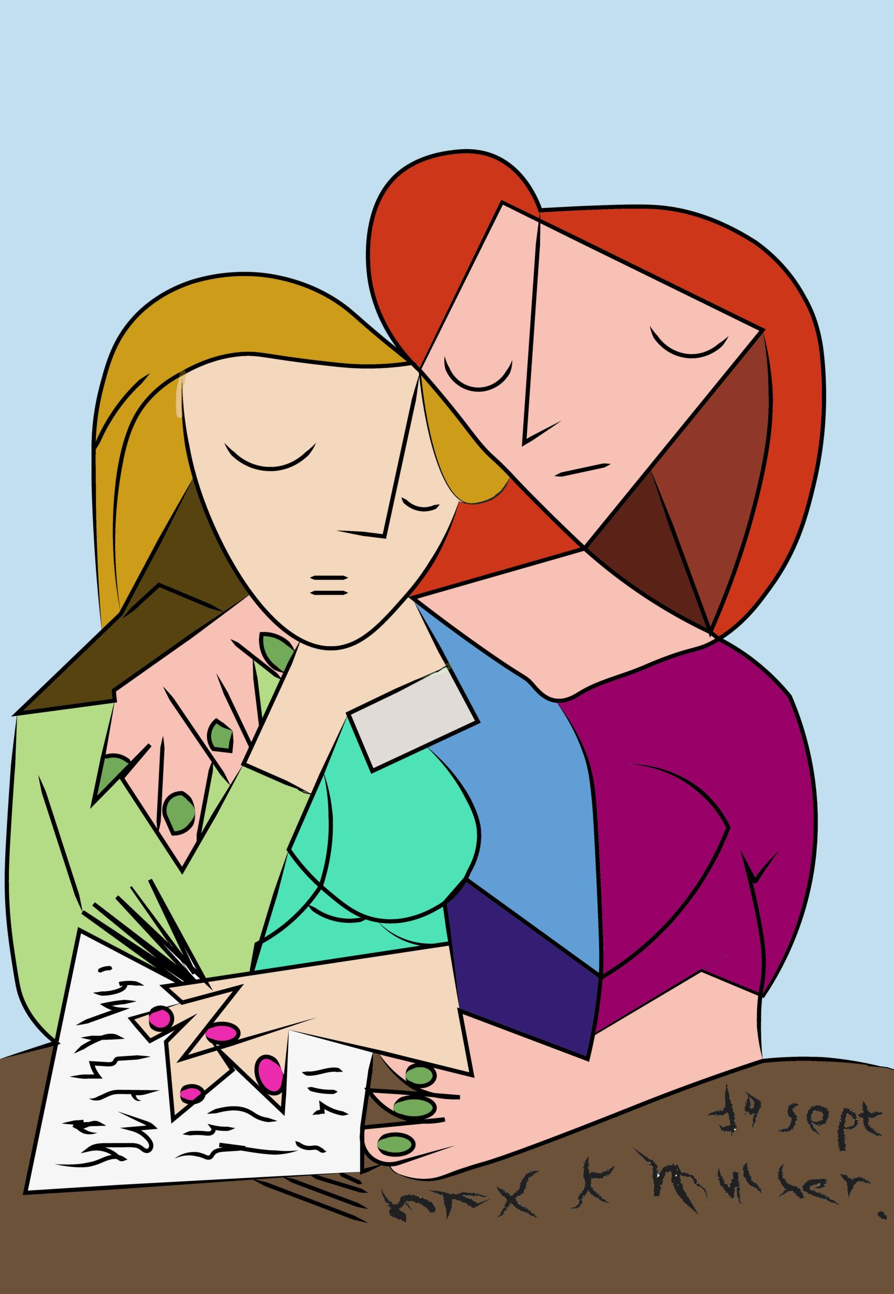 Los dibujos de Rosaleda Kids Club Picasso coloreado