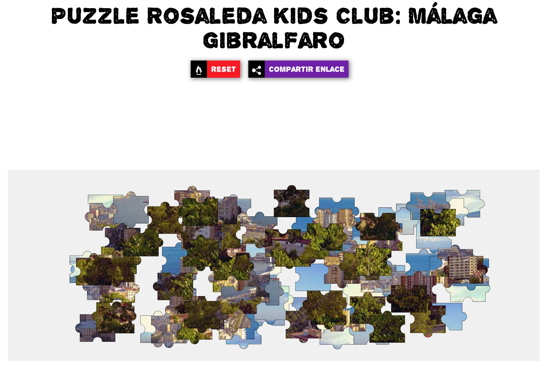 Rosaleda Kids Club: puzzle Málaga Gibralfaro