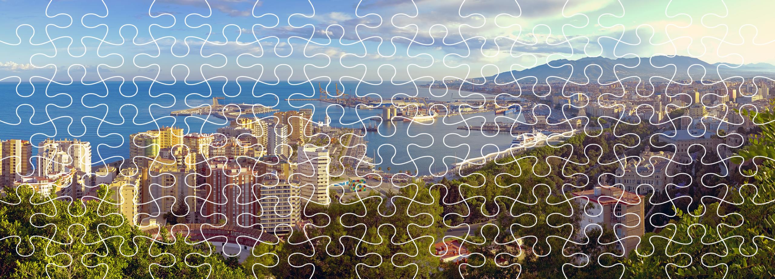 Los juegos de Rosaleda Kids Club: puzzle Malaga Gibralfaro