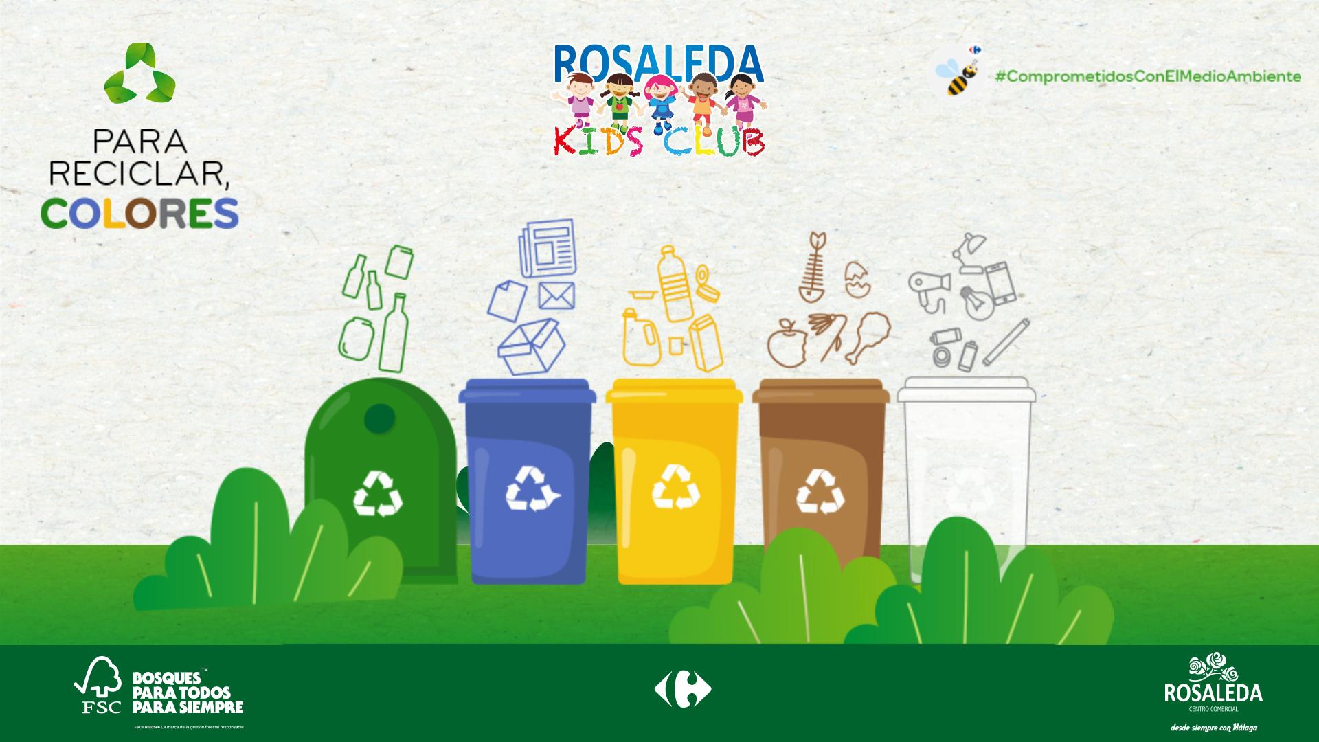 """Especial de Rosaleda Kids Club: taller de reciclaje """"Para reciclar, colores"""""""