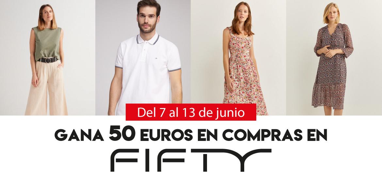 Gana 50 euros en compras en Fifty Factory