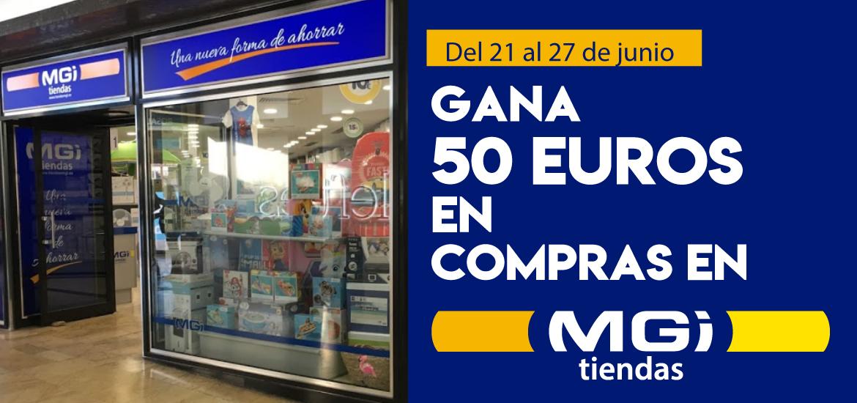 Gana 50 euros en compras en MGI