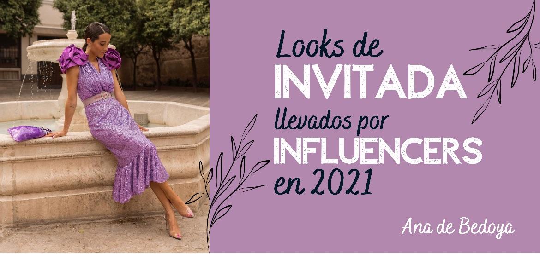 Looks de invitada llevados por influencers en 2021