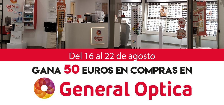 Gana 50 euros en compras en General Óptica