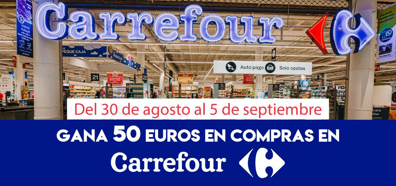 Gana 50 euros en compras en Carrefour