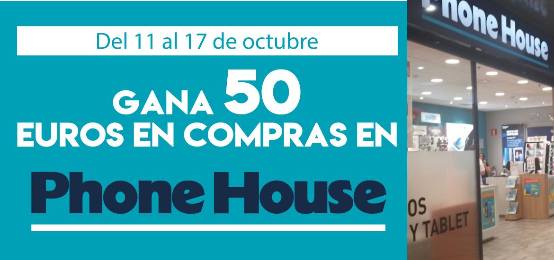 Gana 50 euros en compras en Phone House