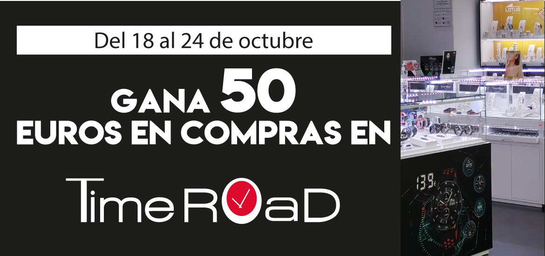 Gana 50 euros en compras en Time Road